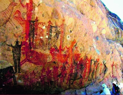 File:Prehistoric painting Baja California Mexico.jpeg