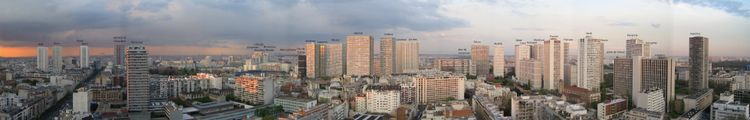 Panoramic view of the Paris 13th district.