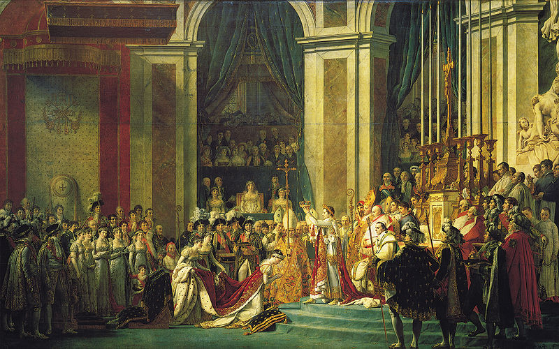 The Coronation of Napoleon in Notre Dame