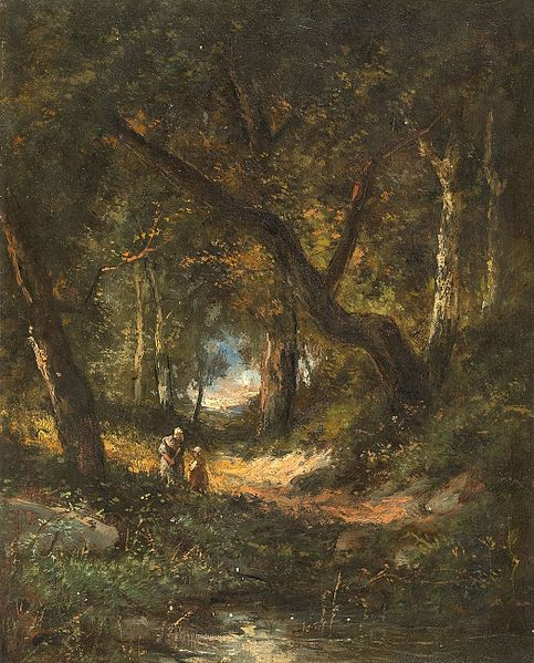 File:Diaz, Forest with mother and child, ca. 1876.jpg