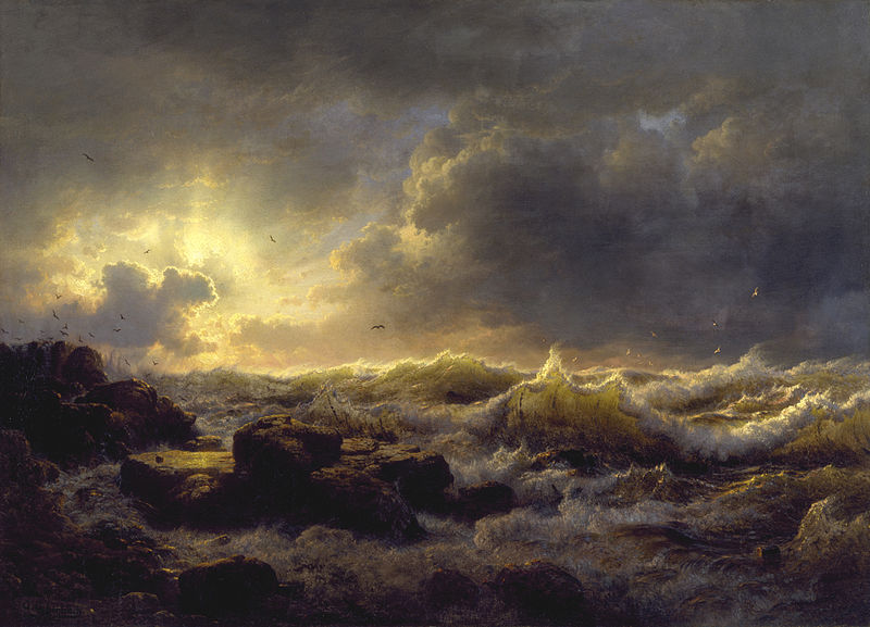 Andreas Achenbach Clearing Up - Coast of Sicily 1847 PDWC.jpg