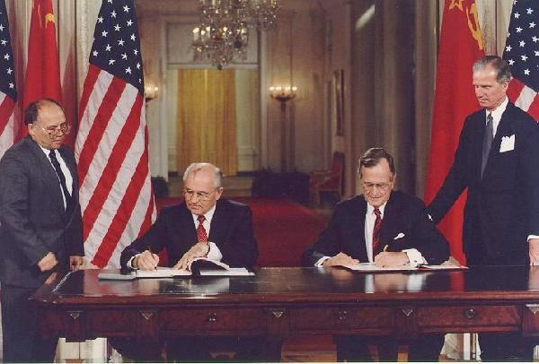 File:Bush and Gorbachev sign agreements.jpg