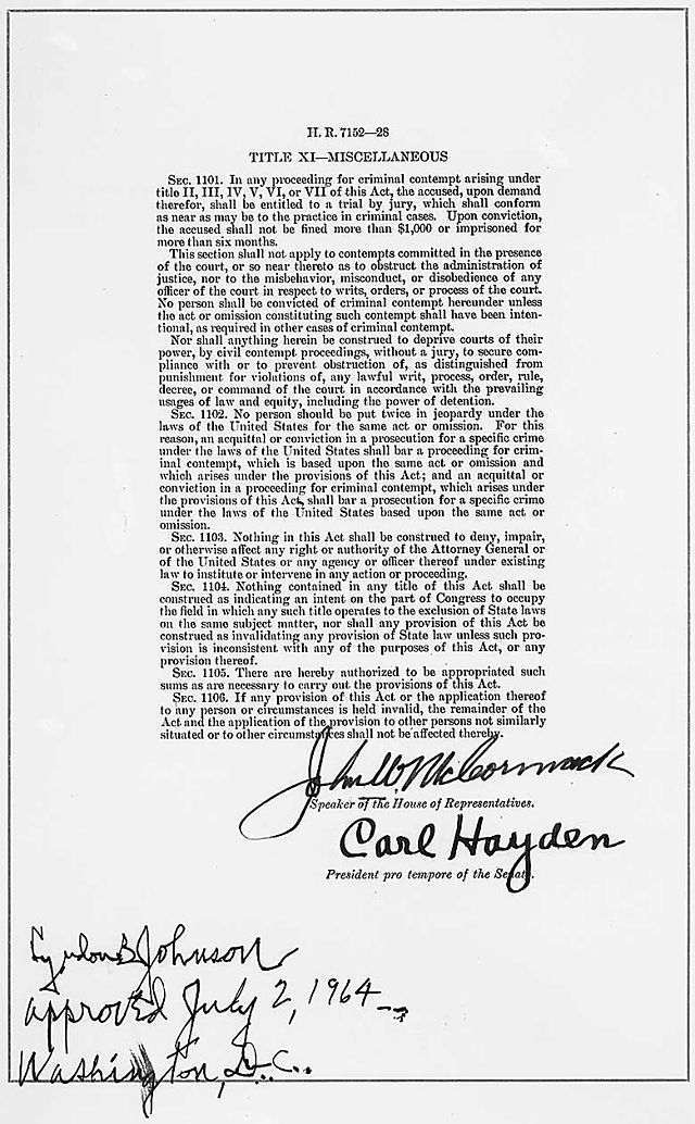 1964 civil rights act sex