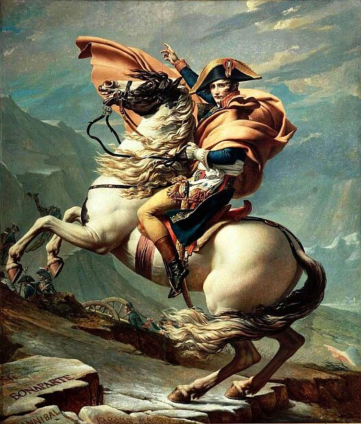 Napoleon Crossing the Alps, 1801.