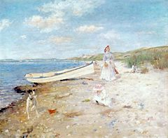 Sunny Day at Shinnecock Bay by William Merritt Chase
