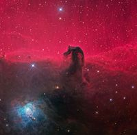 An example of a dark nebula, the Horsehead nebula