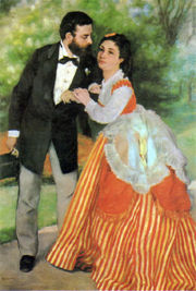 Alfred Sisley and his wife by Renoir