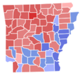 Arkansas Governor Election Results by County, 2014 svg.png