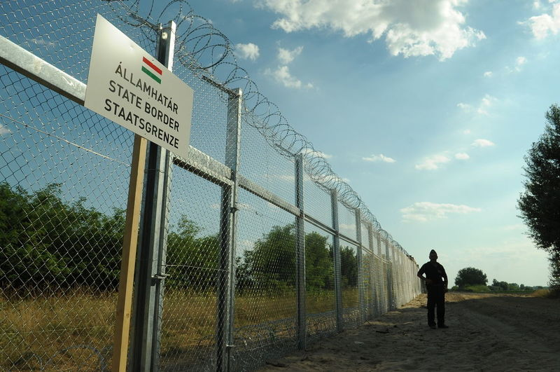 File:Hungarian-Serbian border barrier.jpg