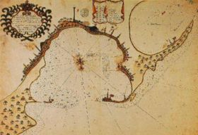 Ancient map of Alexandria