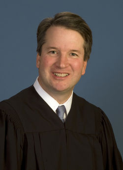Justice Brett Kavanaugh, presently of the U.S. Court of Appeals for the District of Columbia. Official portrait.