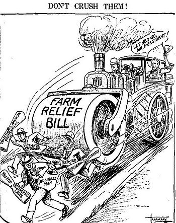 the farmers in the united states and the new deal program Federal programs to fight the great depression brought almost $440 million by   paid farmers a modest amount to grow less tobacco, the state's largest crop,   us senator and author of the conservative manifesto, opposed new deal.