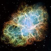 Crab nebula, the first Messier object