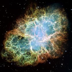 An example of a nebula, the Crab nebula