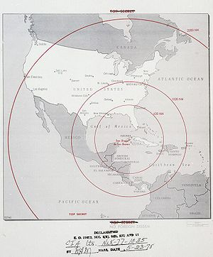 possible range of soviet nuclear missiles in cuba