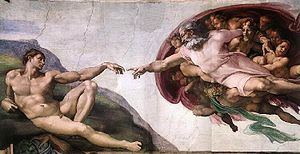 Picture of Michelangelo's Creation of Adam